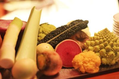 世界の野菜が全員集合!季節料理La Luna Luna