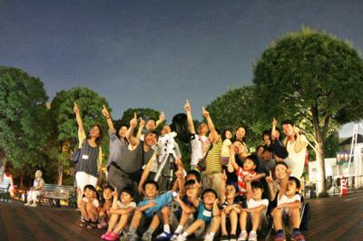 土星と月を観測する@恵比寿ガーデンプレイス時計広場