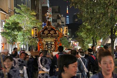 渋谷氷川神社例大祭2015 祭礼会「元広尾」に密着!初日広尾稲荷神社 後編