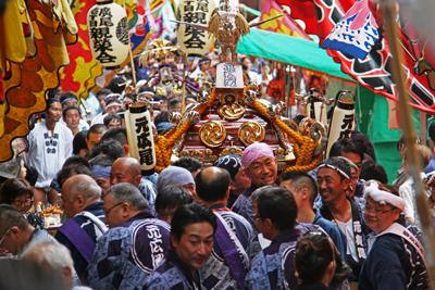 渋谷氷川神社例大祭2015 祭礼会「元広尾」に密着!氷川神社宮入編
