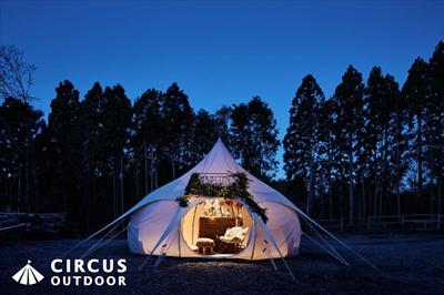 恵比寿ガーデンプレイスに秘密の野外レストランが出現!?『EBISU PREMIUM GLAMPING 2016』