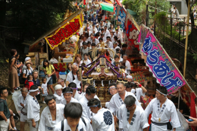 渋谷氷川神社例大祭2016 連合神輿一番基「親栄会」に密着してきました