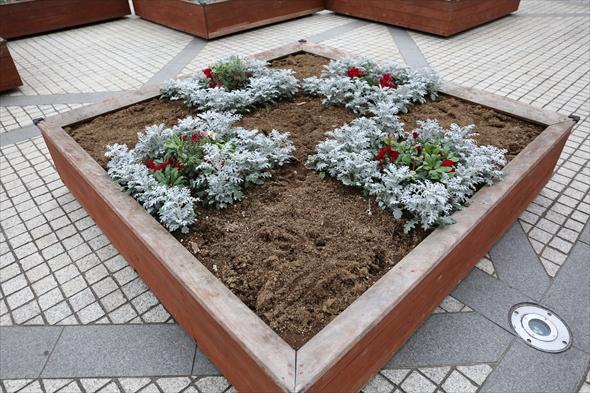ガーデンプレイスで使用されている花壇