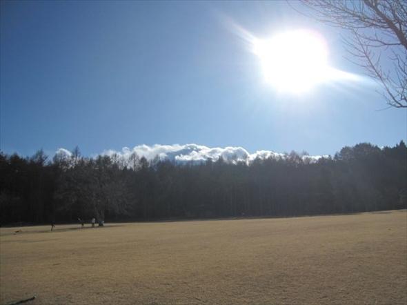 富士山がど真ん前にあるステラシアターの芝生