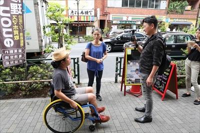 車いすに乗って恵比寿の街を散策して分かった「心の段差」with 伝える人になろう講座