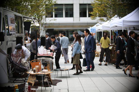 恵比寿ビジネスタワーで隔週月曜日開催の「生活のマルシェ」