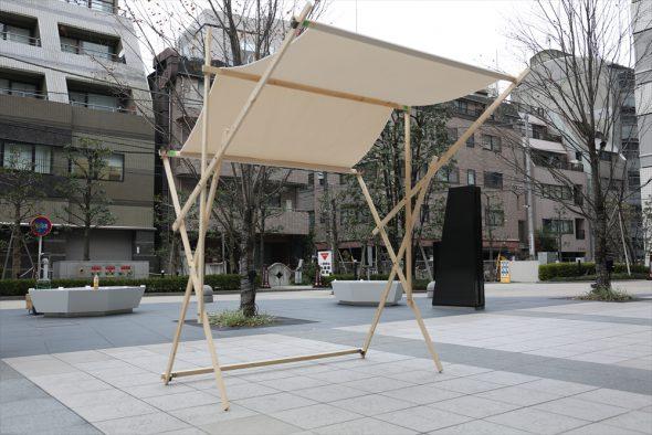恵比寿じもと工務店カトウ氏デザインの新型マルシェテント