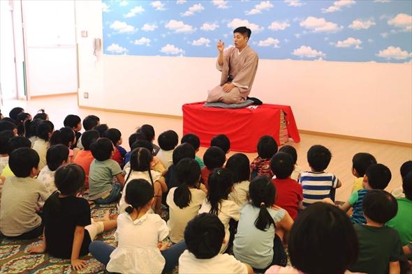 保育園で恵比寿の落語家立川志の彦さんの落語