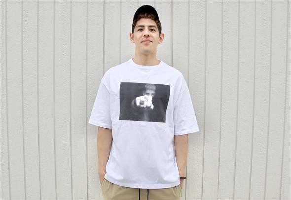 ベンドラメ選手デザインのTシャツ。写真はベンドラメ選手