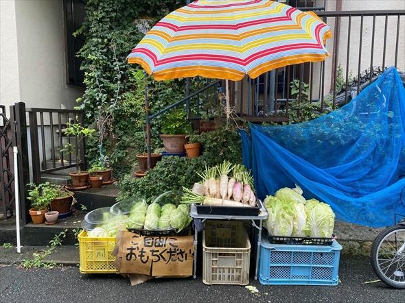 毎度恒例の恵比寿新聞ファームの野菜のおすそわけ