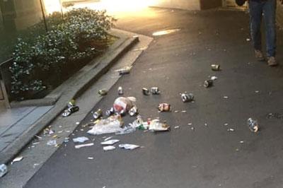 恵比寿駅前の立ち飲みゴミ問題の続報